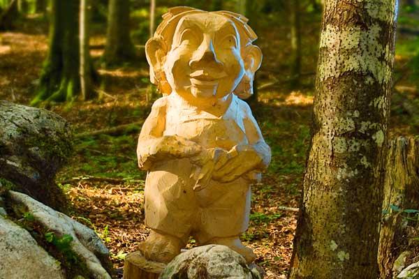 Projekt Märchenpfad Bischofswiesen Holzfigur Troll Foto Liedtke & Kern