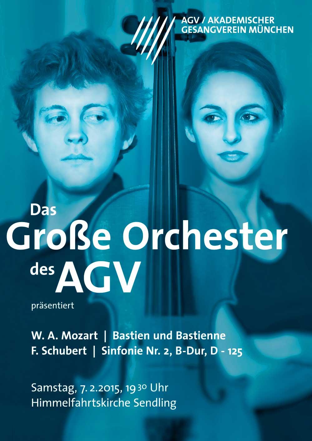 Plakatdesign für Akademischer Gesangsverein München Bastian & Bastienne Poster