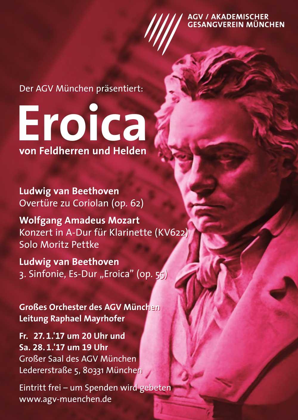 Plakatdesign für Akademischer Gesangsverein München Eroica Poster