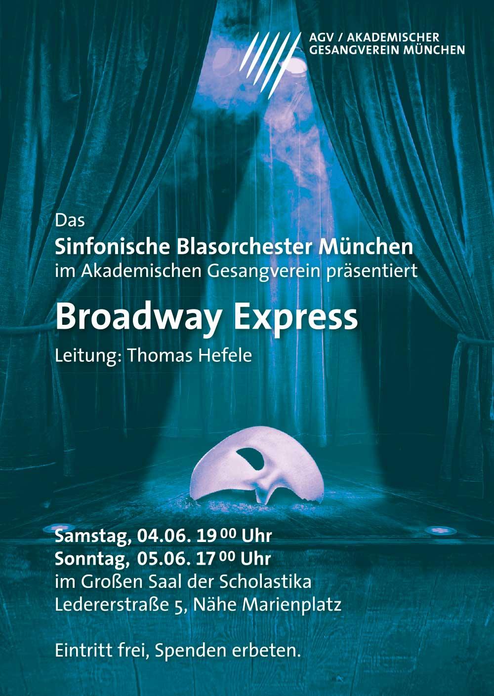 Akademischer Gesangsverein München Musical poster