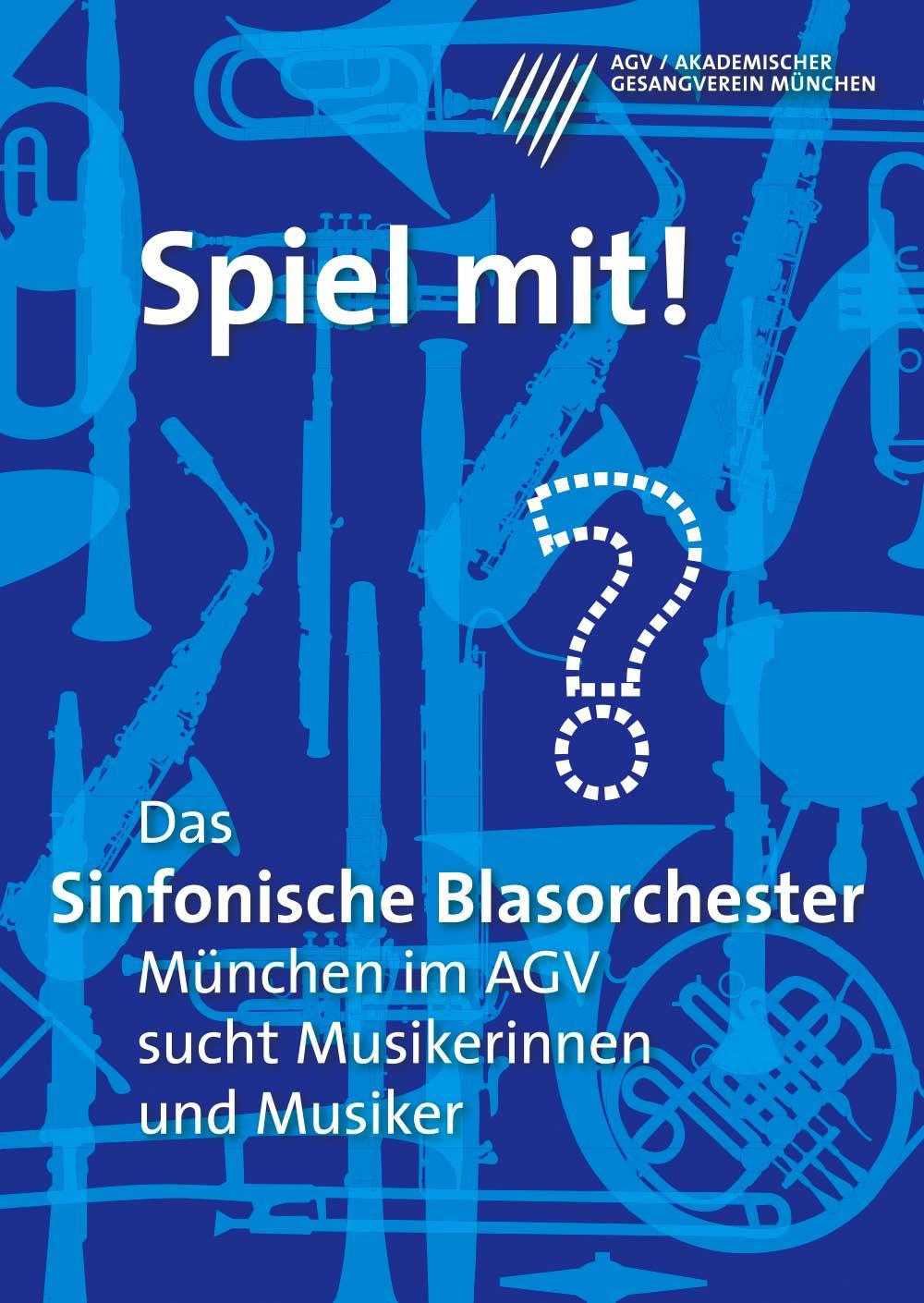 Plakatdesign für Akademischer Gesangsverein München Spiel mit Poster Design