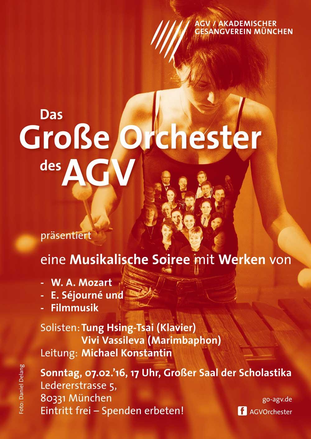 Akademischer Gesangsverein München Soiree poster
