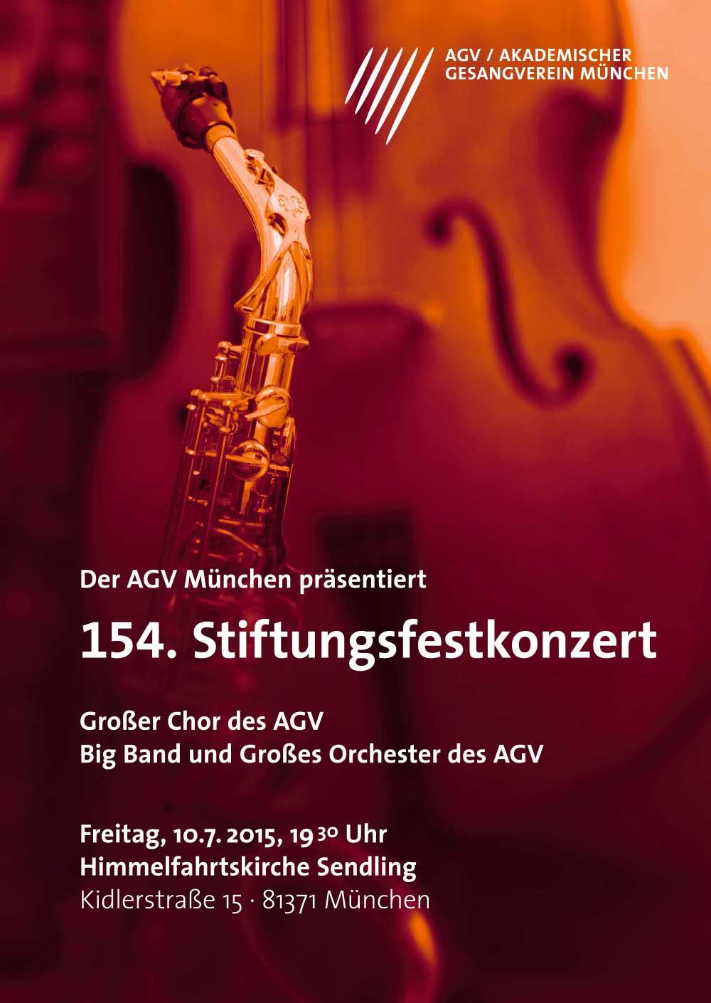 Akademischer Gesangsverein München Stiftungsfest Design