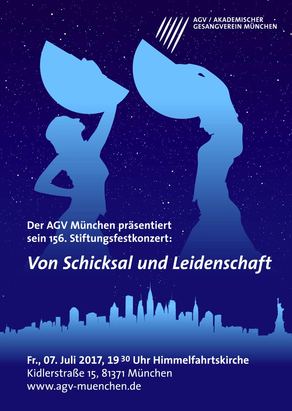Akademischer Gesangsverein München Stiftungsfest poster