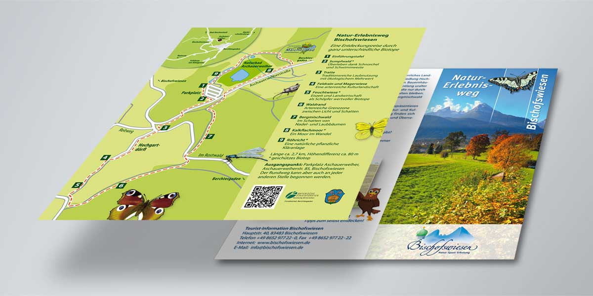 Naturerlebnisweg Bischofswiesen Infoflyer Design