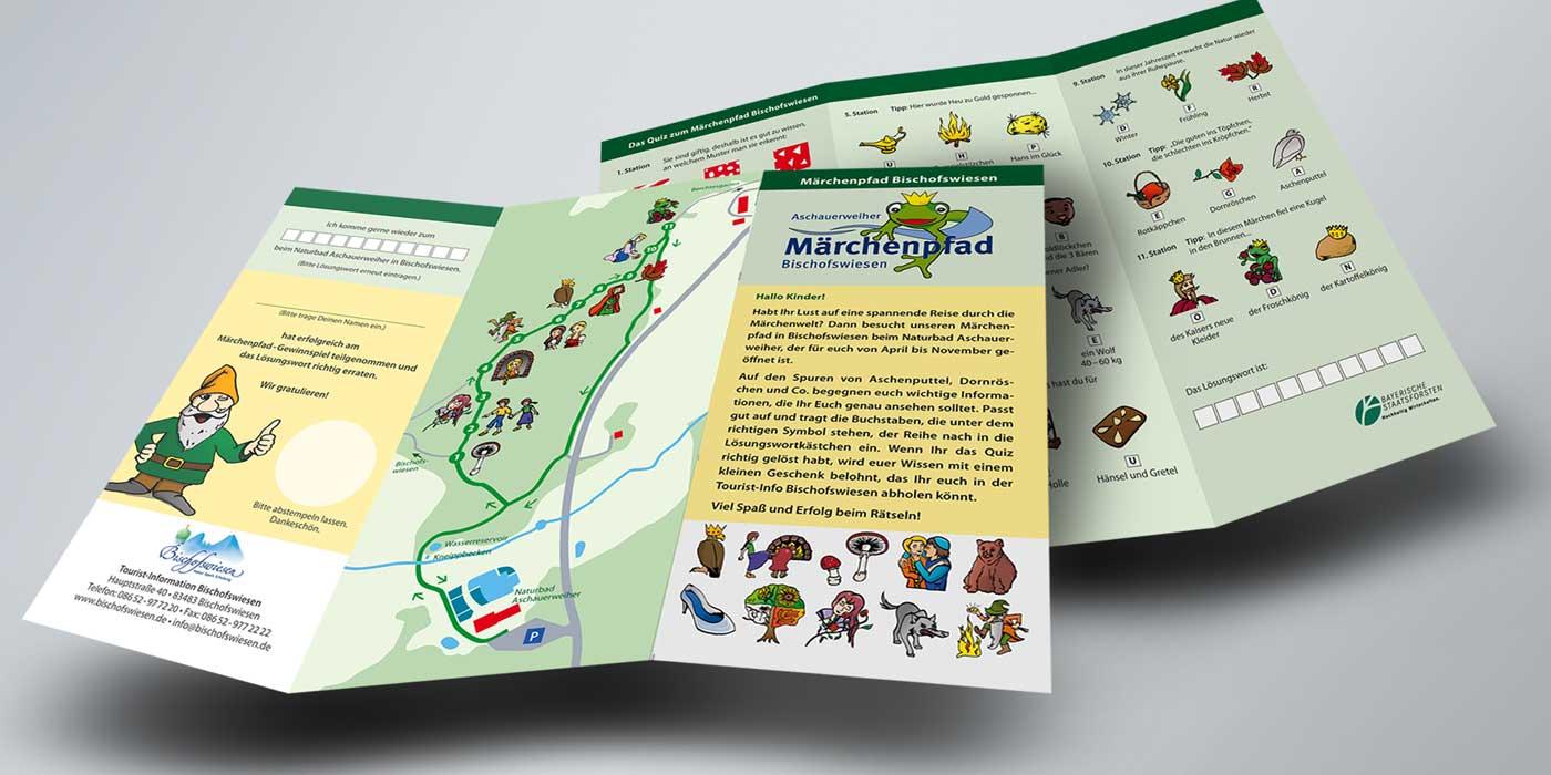 Quiz-Flyer für den Märchenpfad Bischofswiesen