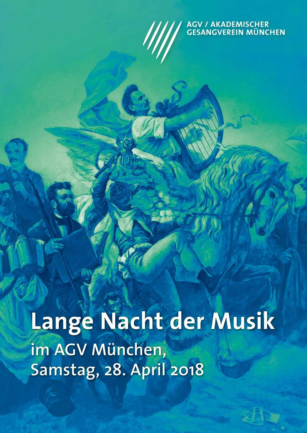 Akademischer Gesangsverein München Lange Nacht der Musik Plakat