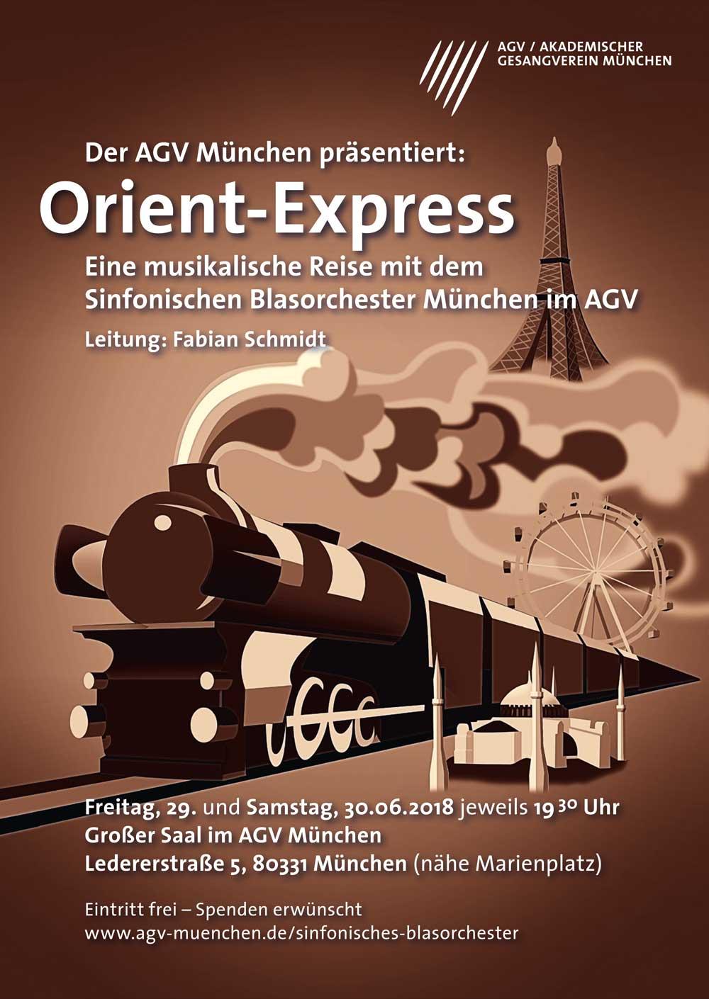 Akademischer Gesangsverein München Plakat Orientexpress