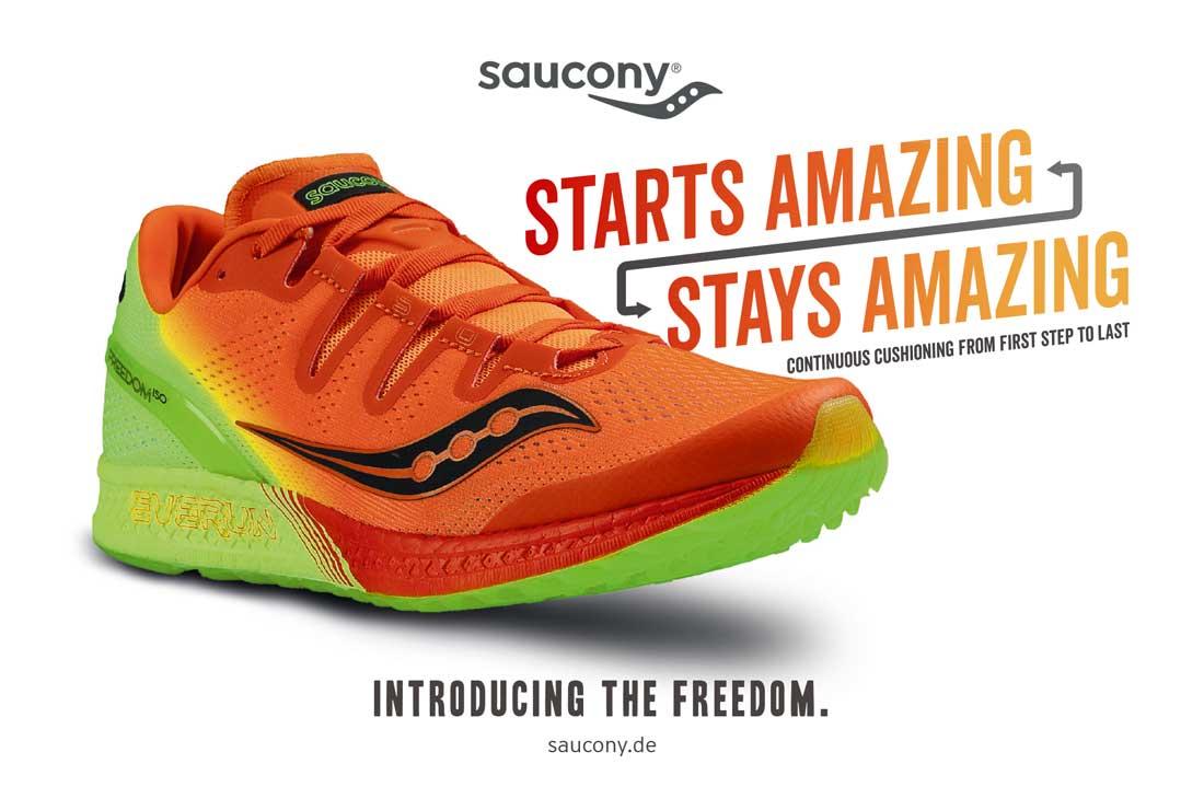 Saucony Produkt darstellung orange