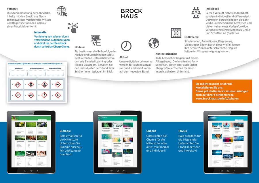 Liedtke & Kern Brockhaus Flyer digitale Lehrwerke Innenseiten