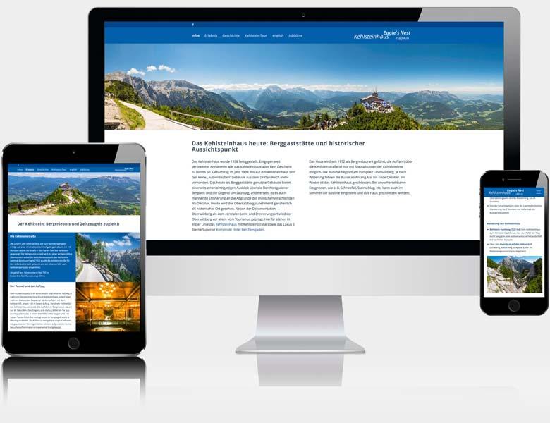 Webdesign Berchtesgaden Webseite Kehlsteinhaus.de