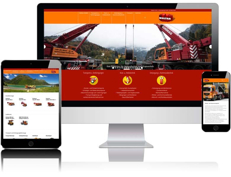 Webdesign Berchtesgaden Beispiel sepp-maltan.de