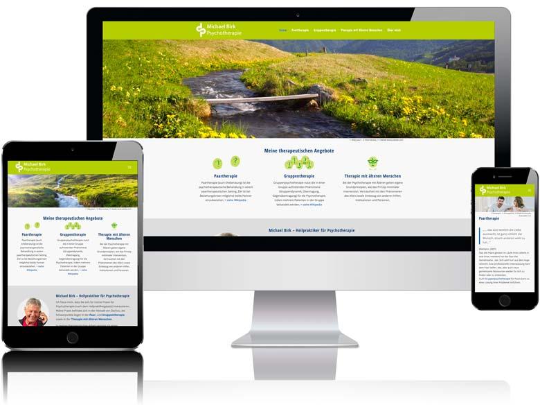 Webdesign Liedtke & Kern Beispiel psychotherapie-birk.de