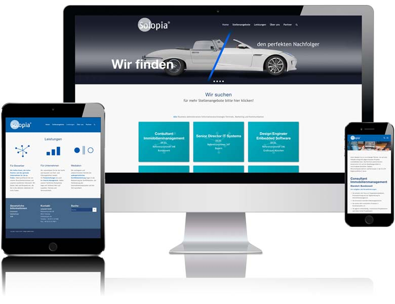 Website solopia.de von Liedtke & Kern