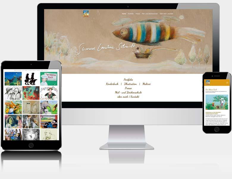 Webdesign Liedtke & Kern Beispiel susanne-leontine.de