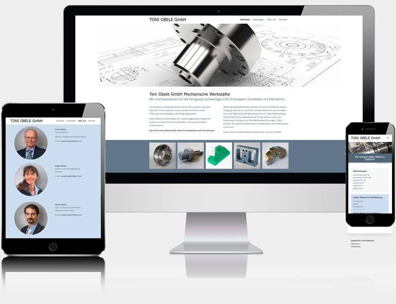 Webdesign Liedtke & Kern Beispiel toni-obele.de