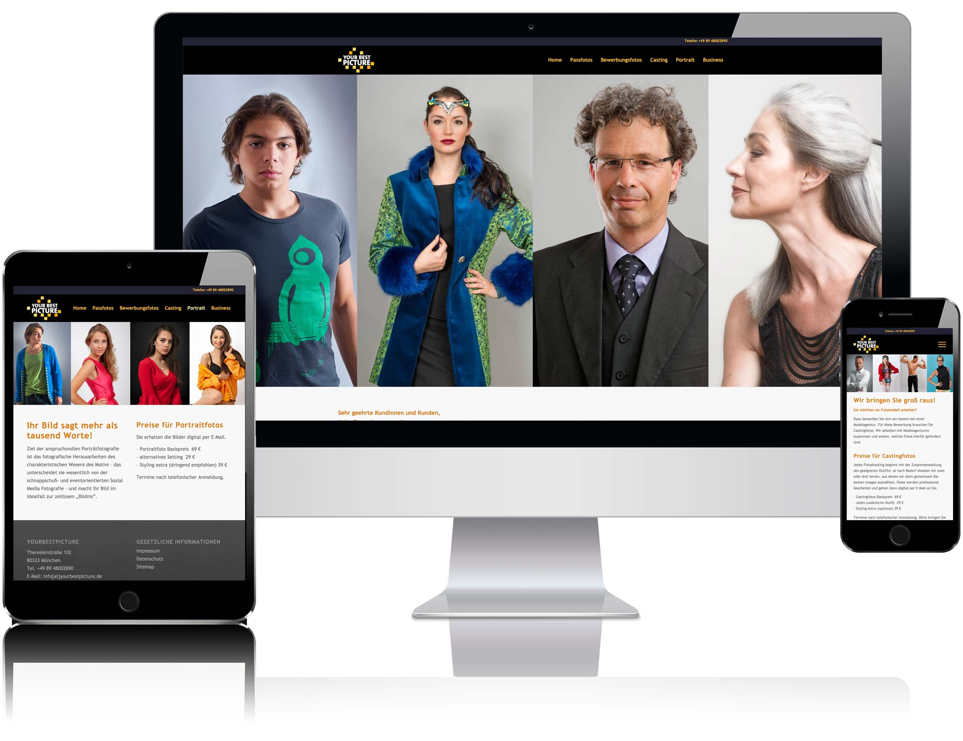 Internetseite yourbestpicture.de von Liedtke & Kern