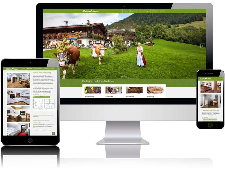 Webdesign Liedtke & Kern Beispiel hasenlehen.de