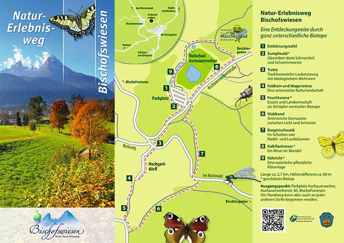 Liedtke & Kern Kreativagentur: Konzept und Layout Pflanzenwanderung für die Gemeinde Bischofswiesen